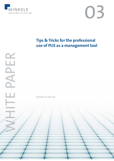 Cover Tips & Tricks for the professional use of PUE as a management tool