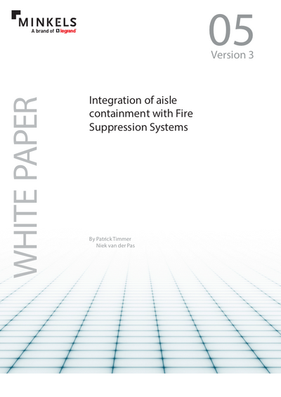 Cover Integration of aisle containment with Fire Suppression Systems