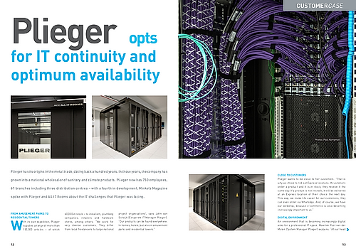 Plieger Den Bosch.Plieger Opts For It Continuity And Optimum Availability